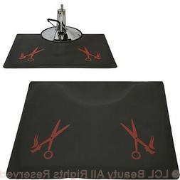 """1/2"""" Thick Anti-Fatigue Beauty Floor Mat with Red Barber Sal"""