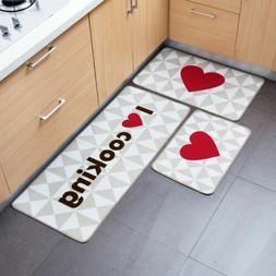 1 Pc Welcome Floor Mats I Love Cooking Printed Kitchen Carpe