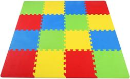 16 Piece Puzzle Exercise Floor Play Mat EVA Foam Rubber Mat