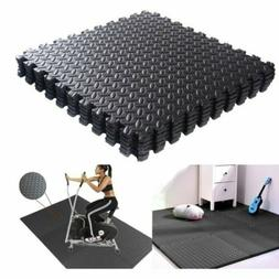 24sqft Floor Mat Interlocking Puzzle Rubber Foam Gym Fitness