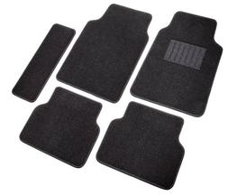 All Weather Trimmable Mat 4 Pieces 3 Rows Full Set BDK Heavy Duty Van SUV Rubber Floor Mats Black