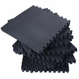 72 Sq Ft Interlocking Puzzle Rubber Foam Gym Fitness Exercis