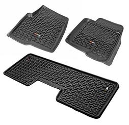 Rugged Ridge 82989.21 Floor Liner Set, 3 Piece, Black, 2009-