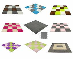 9 pcs Interlocking Floor Mats Carpet Tiles Plush Foam Square