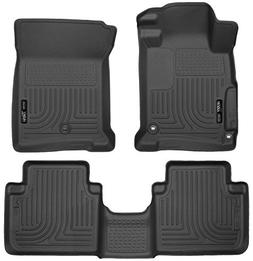 Husky Liners 98481 WeatherBeater Floor Liner; Black; 2 pc. F