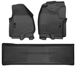 Husky Liners 99711 Front & Second Seat Floor Liner Set Black