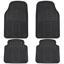 BDK All Weather Rubber Floor Mats for Car SUV & Truck - 4 Pi