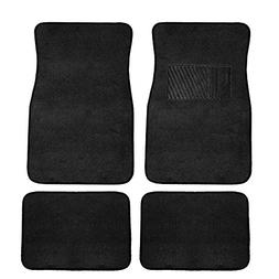 FH Group F14403BLACK Black Carpet Floor Mat with Heel Pad