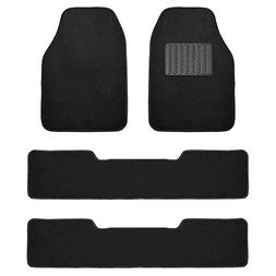 FH Group F14406BLACK Black Carpet Floor Mat with Drivers Hee