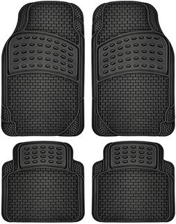 OxGord 4pc Rubber Floor Mats Universal Fit Front Driver Pass