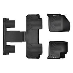 SMARTLINER Floor Mats 3 Row Liner Set Black for 2018-2019 Ch