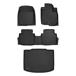 MAX LINER A0250/B0250/D0251 Black Floor Mat 2 Row Set and Ca