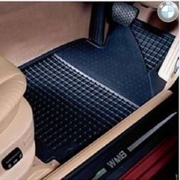 BMW All Weather Front Rubber Floor Mats 325 330 Coupe  - Bla