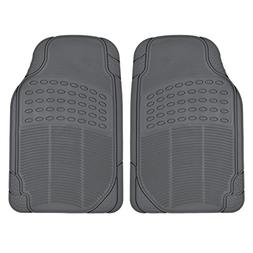 All Weather Tough Rubber Floor Mats in Gray - 2pc Front Set