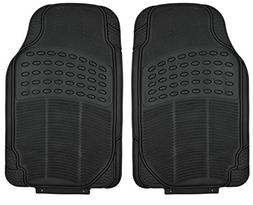 All Weather Tough Rubber Floor Mats in Black - 2pc Front Set