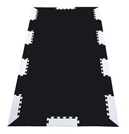 Wonder Mat Black Foam Tiles Exercise Equipment Protection Ma