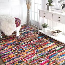 Bohemian Cotton Rug Multi Area Flatwave Rugs Braided Living