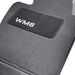 BMW Carpeted Floor Mats with BMW Lettering Heel Pad- - GRAY