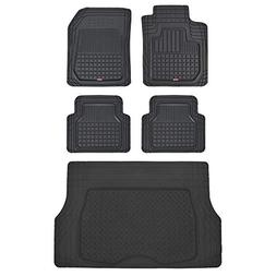 Motor Trend CB210-C2 Rubber Floor Mats for Car SUV Truck-5 P