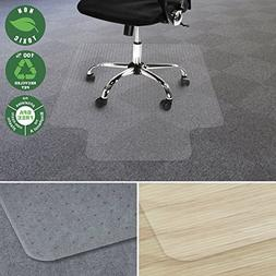 Office Marshal Chair Mat for Carpet with Lip | Eco-Friendly