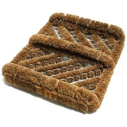 "Rubber-Cal ""Herringbone"" Coir Boot Scraper Brush, 2.5 by 12"