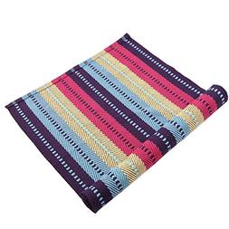 Homcomoda Cotton Rug Runner for Kitchen Striped Braided Wash