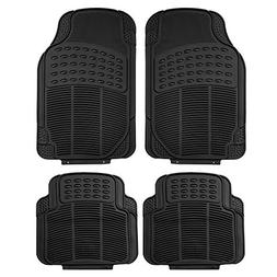 FH Group F11305BLACK Black All Weather Floor Mat, 4 Piece