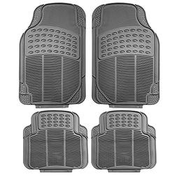 FH Group F11305GRAY Gray All Weather Floor Mat, 4 Piece