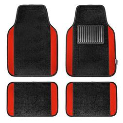 FH Group F14407RED Premium Full Set Carpet Floor Mat