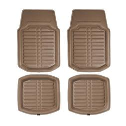 FH GROUP FH-F14409 3D Faux leather floor liners, Solid Brown