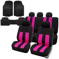 FH GROUP FH-FB036115 Striking Striped Seat Covers Airbag & S
