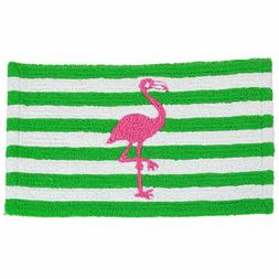 Dennis East Flamingo & Stripe Indoor Outdoor Accent Rug bath