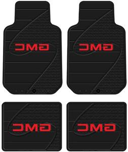Front & Rear Seat Car Truck SUV Rubber Floor Mats - GMC Logo