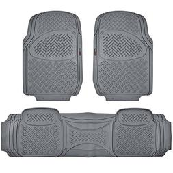 Motor Trend HD FlexTough Rubber Floor Mats for Car Truck SUV