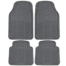 BDK MT-654-GR Heavy Duty 4pc Front and Rear Rubber Floor Mat
