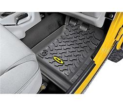 Jeep Molded Floor Mat Liners Front Black