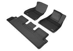3D MAXpider KAGU Black All-Weather Floor Liners for Tesla Mo