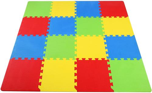 16 piece puzzle exercise floor play mat