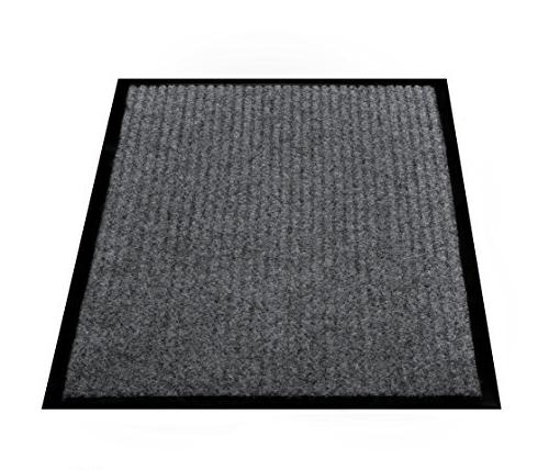 "2-Pack Indoor Floor Mats for Entryway, 17"" x Door Mats Traffic Grey Black Floor Shoe Mat"