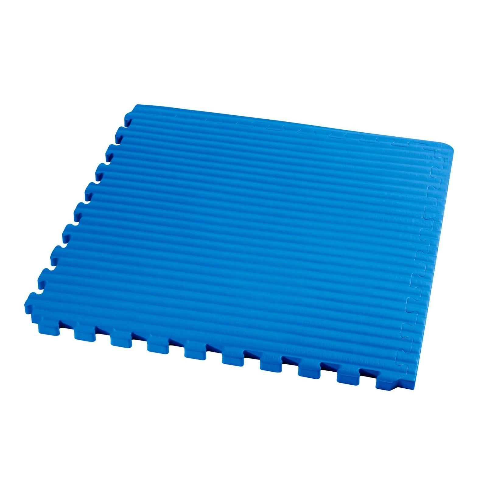 """48 sf Martial Floor Mats Gym Floor Exercise 3/4"""" thick"""