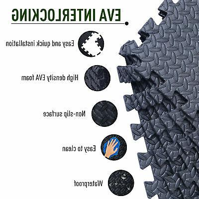 72 Sq Puzzle Rubber Fitness Exercise Mat