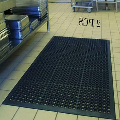 "2PCS Anti-Fatigue Floor Mat 36""*60"" Indoor Commercial Indust"