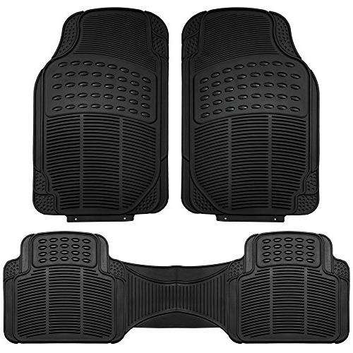 FH Group F11306BLACK black All Weather Floor Mat, 3 Piece