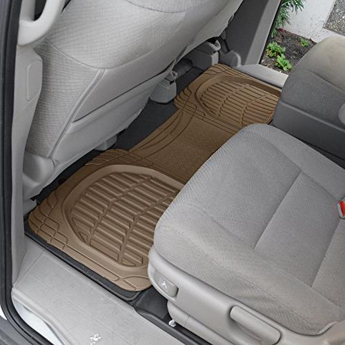 Motor 4pc Rubber Tortoise Liners Cargo for Auto SUV Trucks