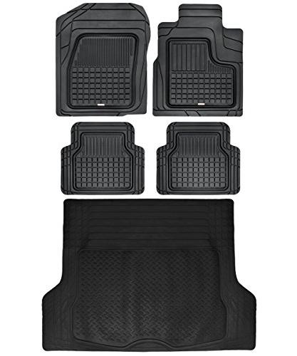 Motor Trend BB210B3 Performance Plus Rubber Car Floor Mat &