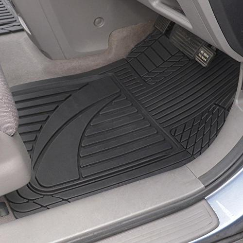 Motor OF-793-BK Advanced Performance Mats-3pc Floor Mats for Car SUV Auto Weather Plus-2 Liner