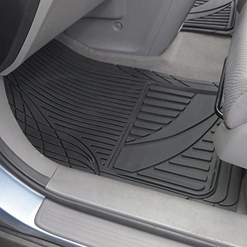 Motor Trend Advanced Mats-3pc Rubber Floor for SUV Auto Weather Plus-2 Rear Liner