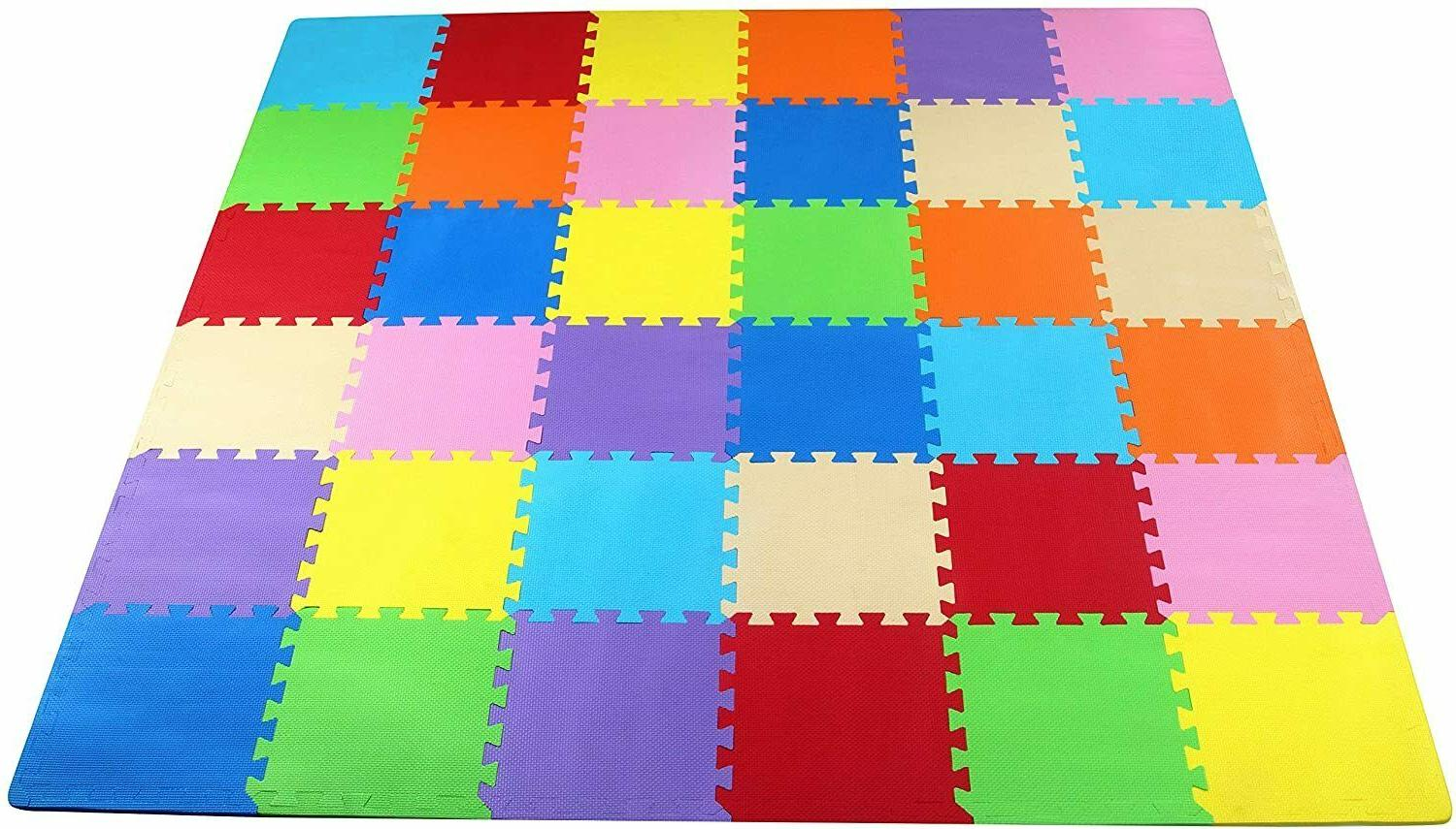 balancefrom kid s puzzle exercise play mat