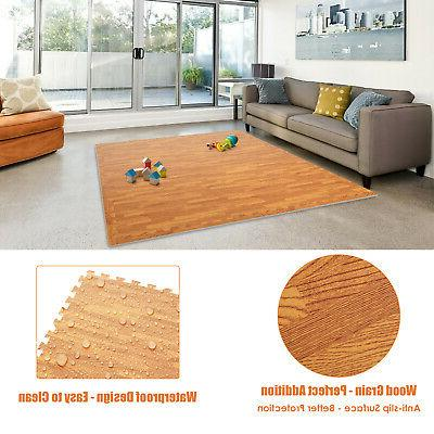 New 24 Sq ft Interlocking EVA Foam Floor Mat Puzzle Tiles Gy