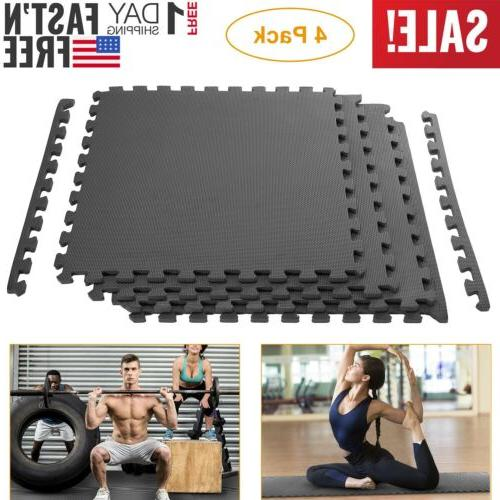 Exercise Floor Mat Fitness Foam Mats Tiles Puzzle Rug Pad Gy